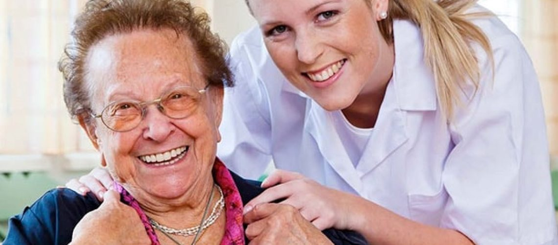 Nurse with client & FD